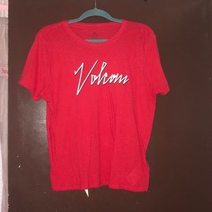 Red orange volcom tshirt